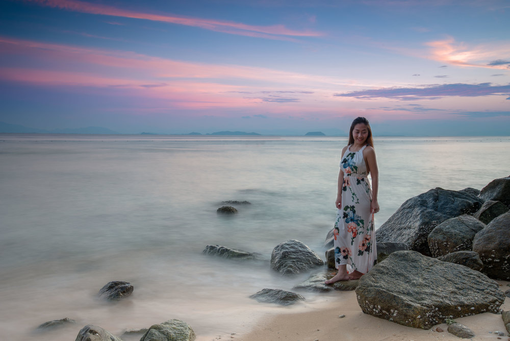 Sunset shot taken in Perhentian Alunan Resort in July' 2016.