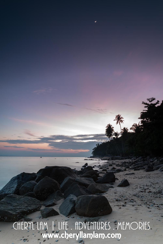 Perhentian at dusk