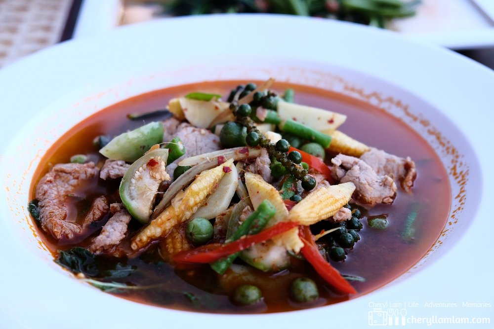 Jungle curry - a Burmese influenced medium spiced curry without coconut milk