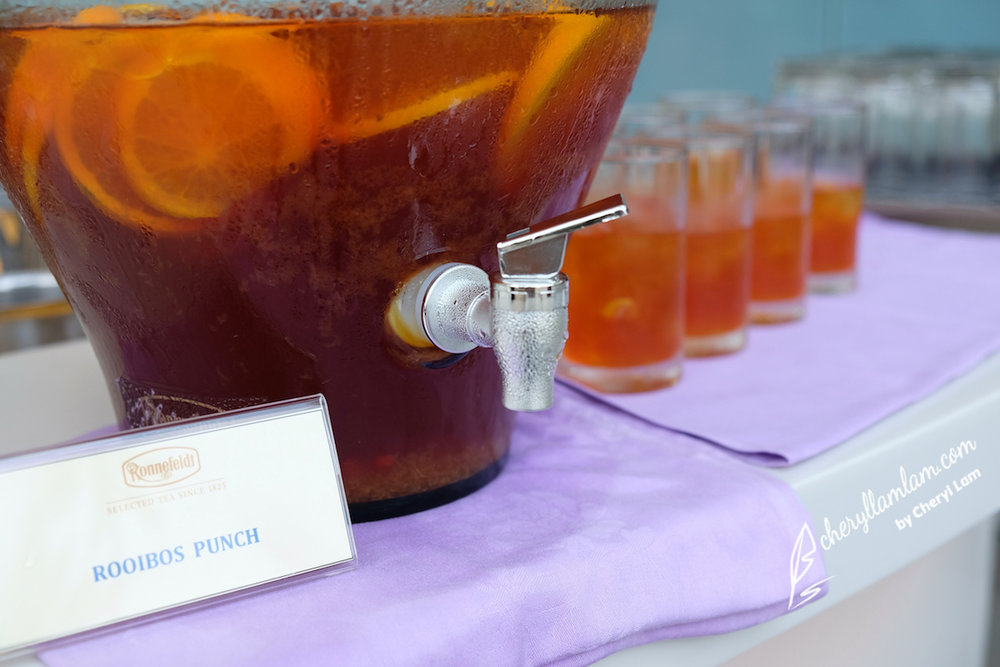 Our welcome drink of the evening - Rooibos Punch