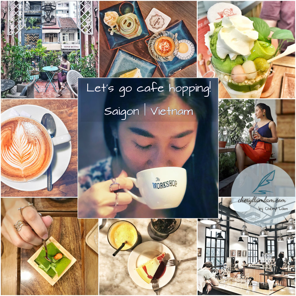 6 Cafes that are worth visiting in Saigon, Vietnam.