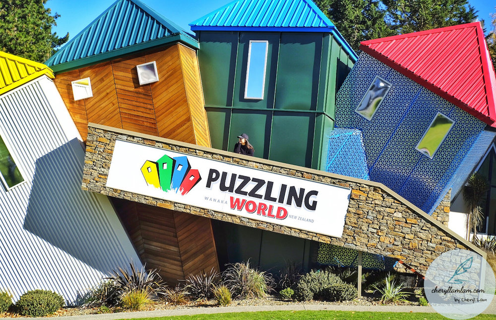 Puzzling World is located between Skydive Wanaka & Wanaka town. Took a quick photo stop there.
