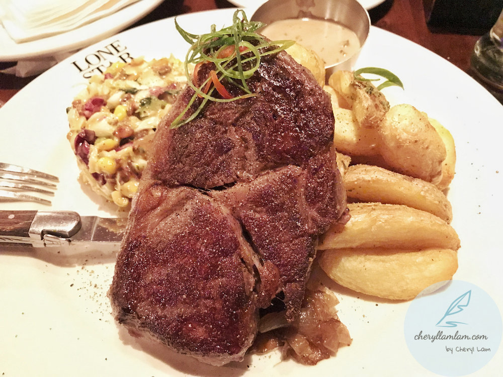 Lone Star's Ribeye steak
