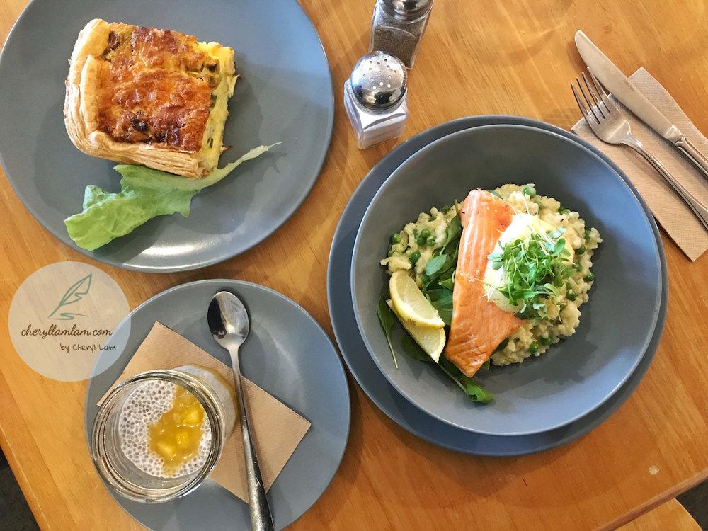 Cafe Verde : Quiche & Salmon Risotto