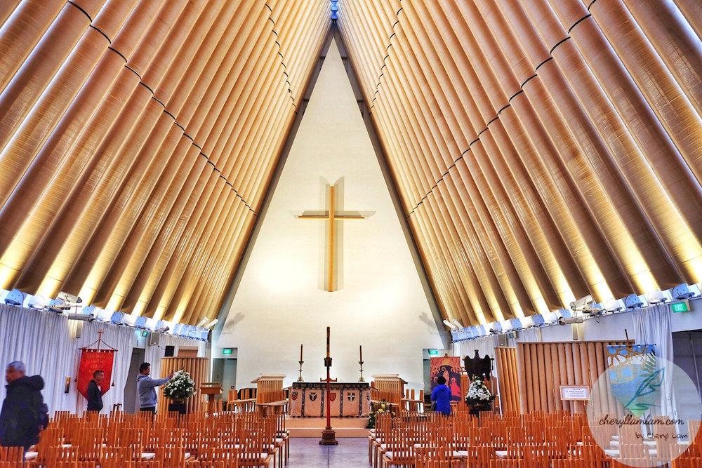 Cardboard Cathedral Christchurch NZ