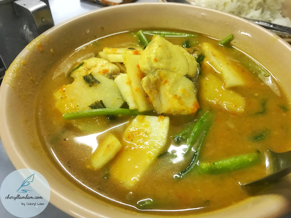 Seafood Kaeng Som : Thai sour curry with sea coconut  I really love this dish and it's really spicy!