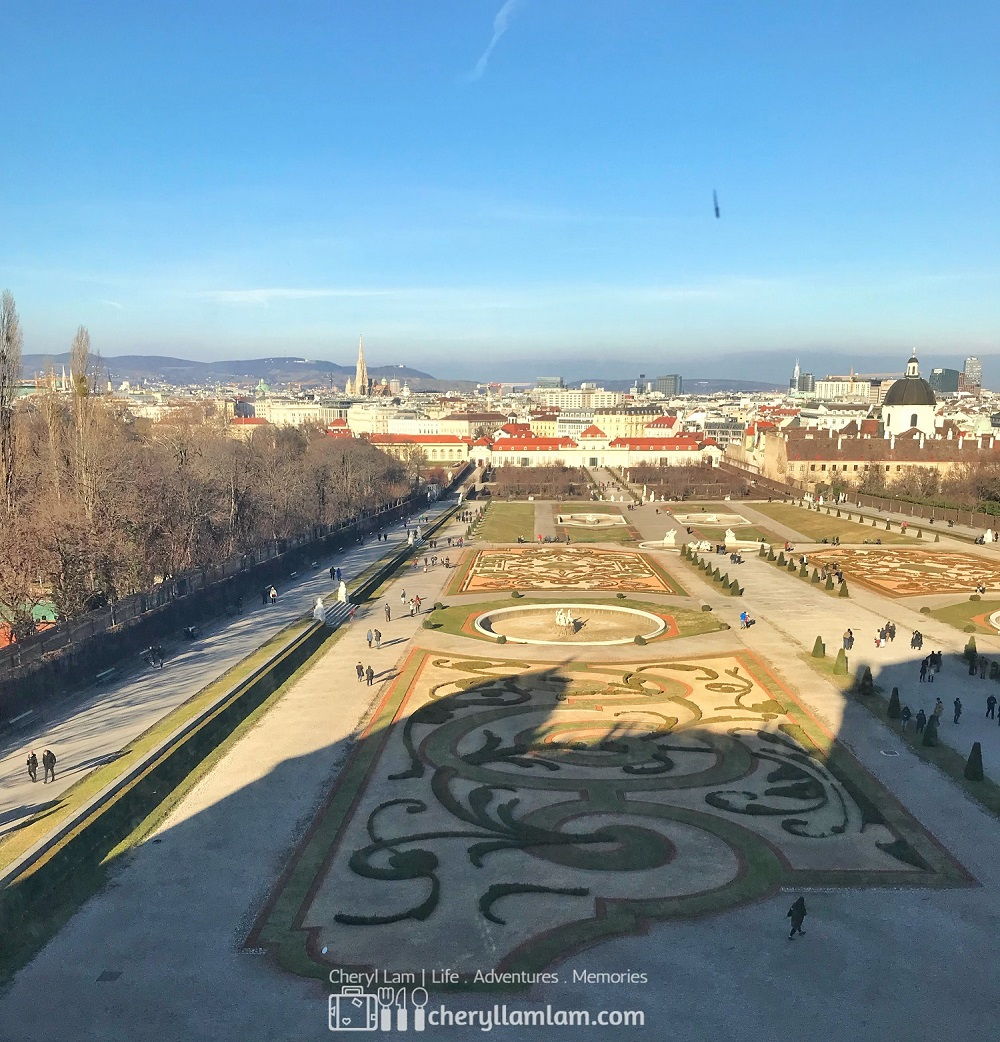 View of Vienna from inside the palace