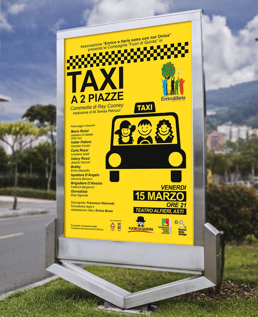 Locandina advertising spettacolo teatrale
