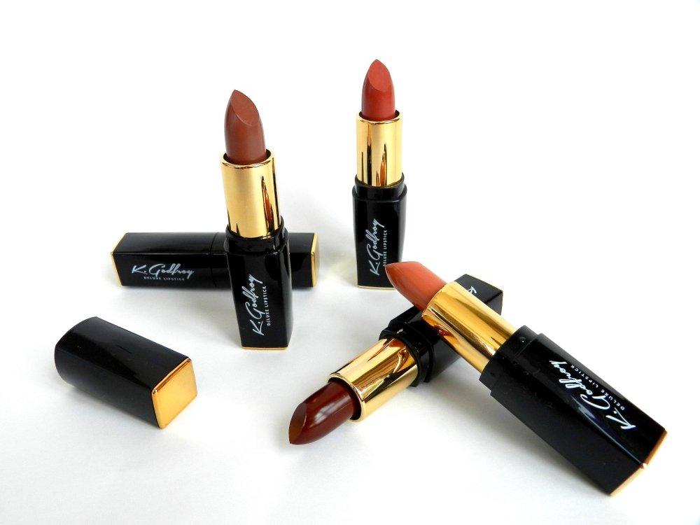 K.Godfroy semi-matte lipsticks