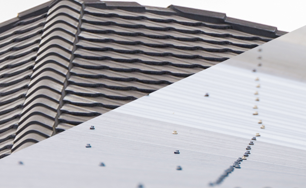New roof: Tile > Tin