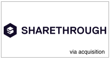 Sharethrough / VAN  Sharethrough  acquired VAN in 2014 , to launch the Sharethrough into Europe.  Sharethrough's now established as the global leading Native SSP, providing technology to publishers across 10+ countries to power their native advertising.