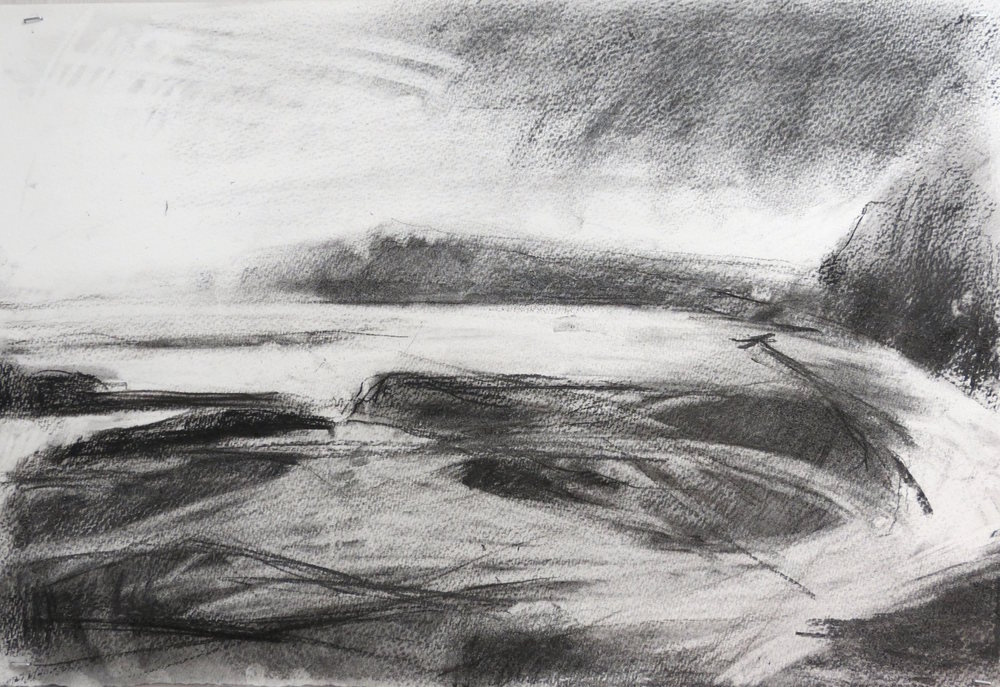 Drawing Scotland,  Charcoal on Paper, 76 x 56 cm, £720  Enquires:   olia@luminairearts.co.uk