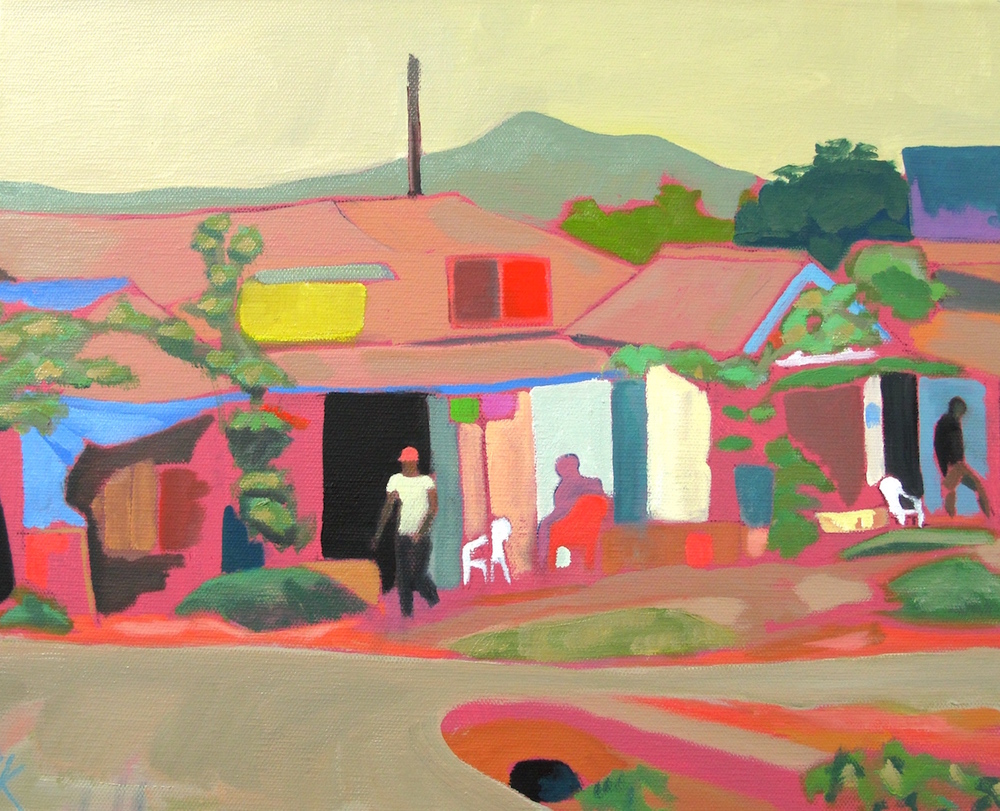 Down Town Babati,  Oil on Canvas, 41 x 33 cm, £660.