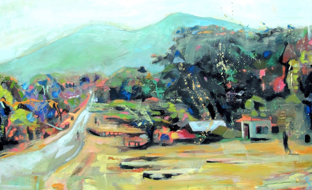 Babati Landscape , Oil on Canvas, 60 x 37 cm, £990.