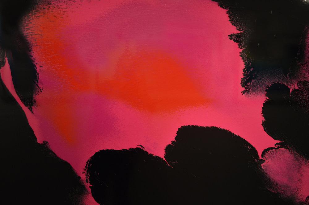 Untitled, Polyurethane paint on wood board in steel frame, 140.5 x 107 cm, £3190  Enquires:  olia@luminairearts.co.uk