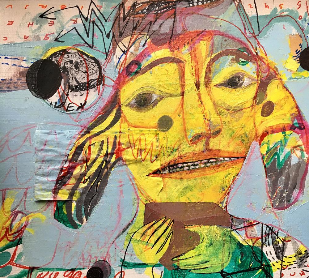 The Gift, Acrylic on Canvas, 36 x 40cm, £880  Enquiries:  olia@luminairearts.co.uk