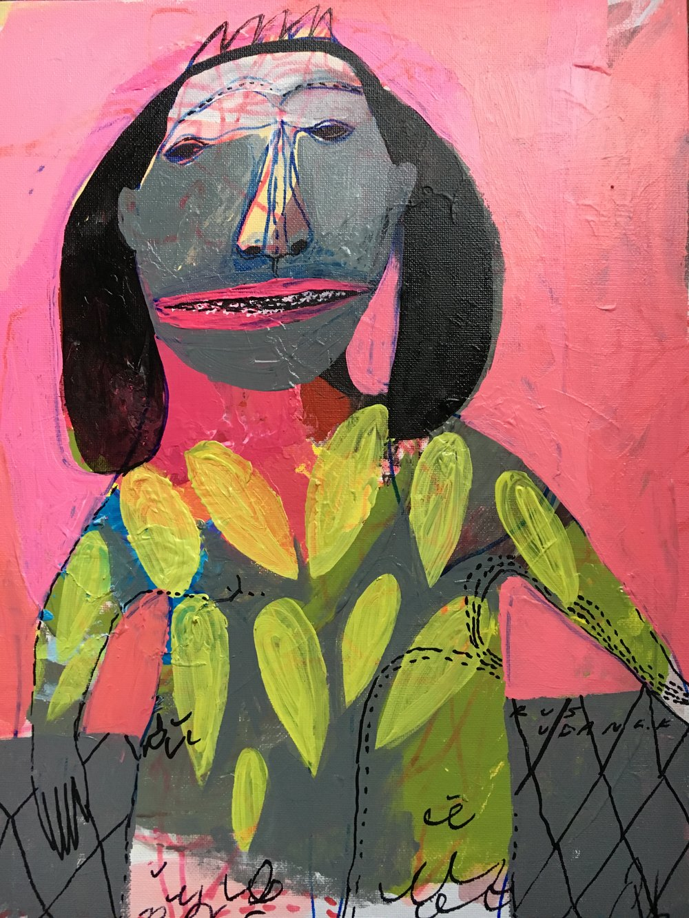 I Will Be Your Princess, Acrylic on Canvas and Cardboard, 40 x 30 cm, £959  Enquires:  olia@luminairearts.co.uk
