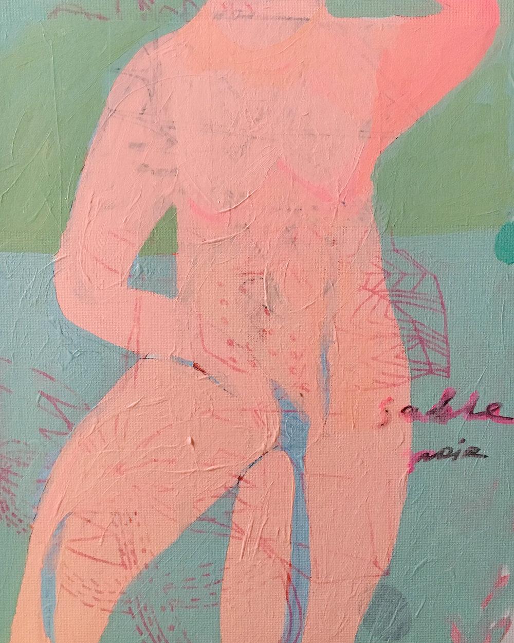 Sable Noir, Acrylic and Cardboard on Canvas, 40 x 30 cm, £959  Enquires:  olia@luminairearts.co.uk