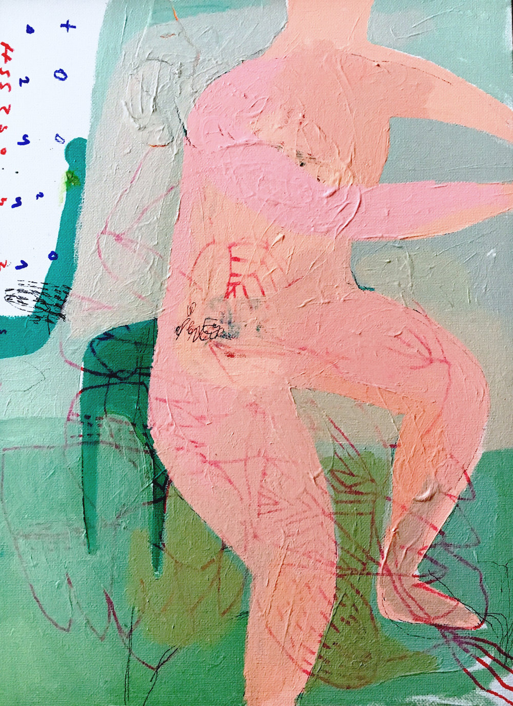 Sable Noir 2, Acrylic on Canvas, 40 x 30 cm, £880  Enquires:  olia@luminairearts.co.uk