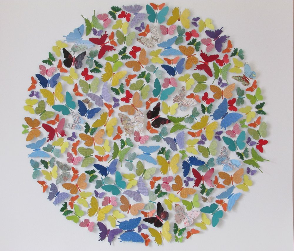 'Butterfly Ball' (100x100cm) £2,000.00. Available to buy on our website  shop.