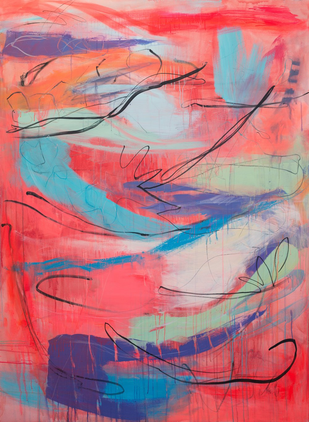 'Gunwalloe 2' (190x140cm) £3,750.00. Visit the  shop  on our website to purchase.