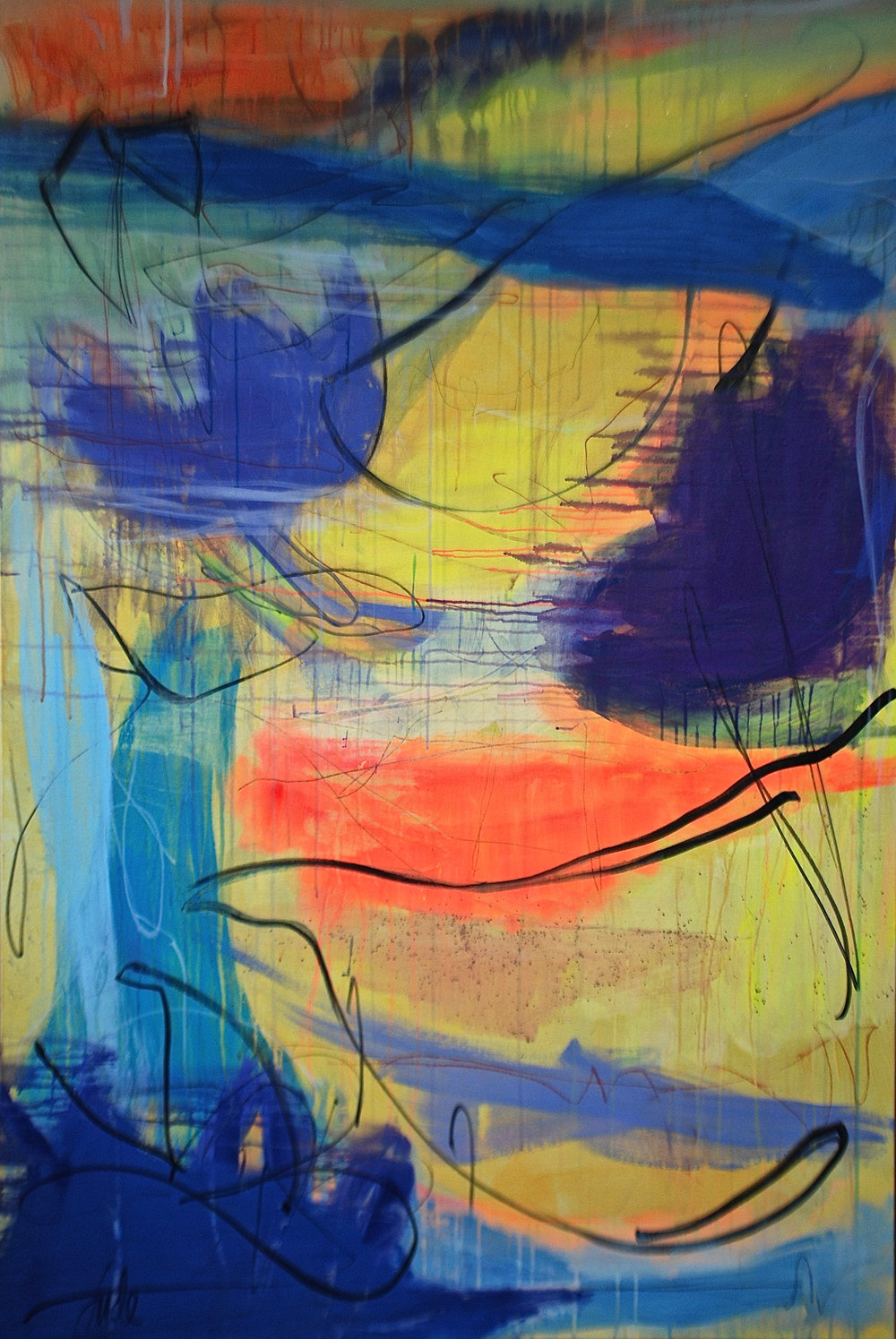 'Seworgan 2' (180x120cm) £3,450.00.Visit the  shop  on our website to purchase.