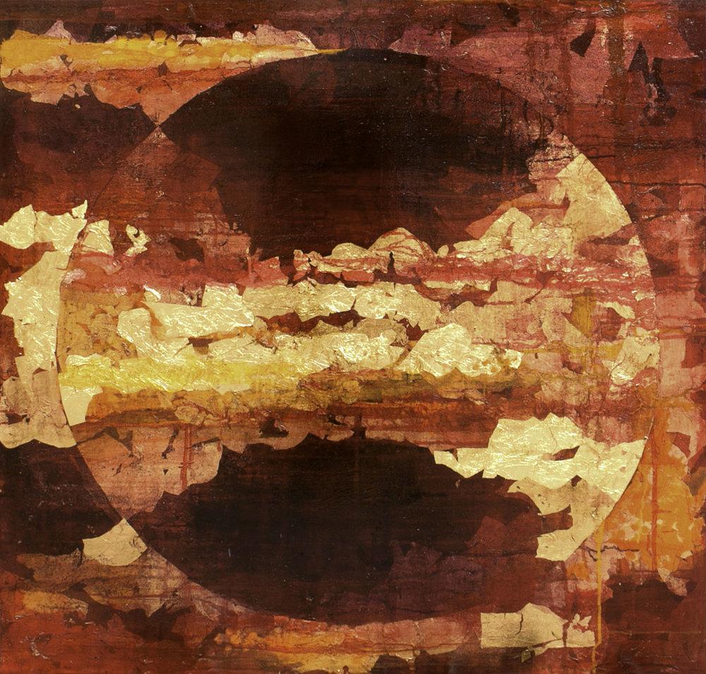 'Rising Bloodmoon' (100x100cm) £2,250.00.