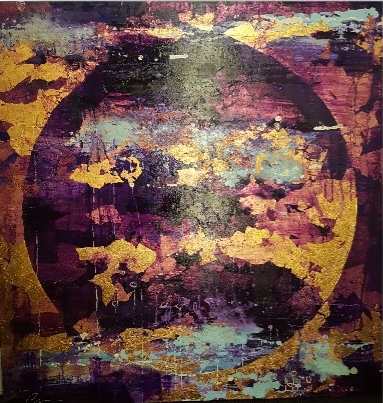 'Hunter's Moon II' (100x100cm) £2,650.00. Visit the  shop  on our website to purchase.