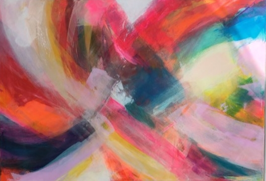'Colour in Motion' (104x74cm) £1,800.00. Visit the  shop  on our website to purchase.