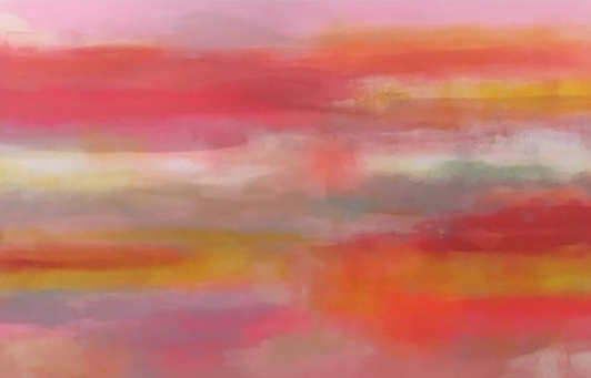 'Pink Sky 2' (142x93cm) £2,600.00. Visit the  shop  on our website to purchase.