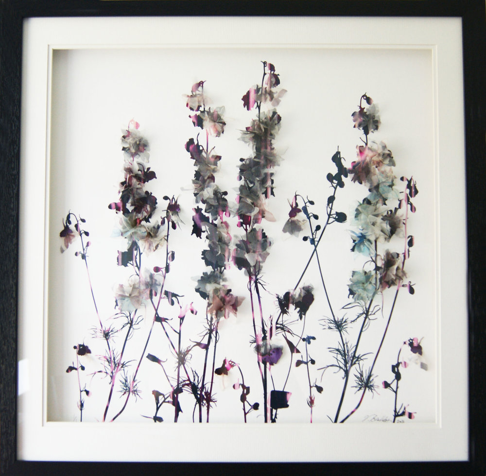 'Blooming Flowers' (55x55cm)£350.00. Visit the  shop  on our website to purchase.