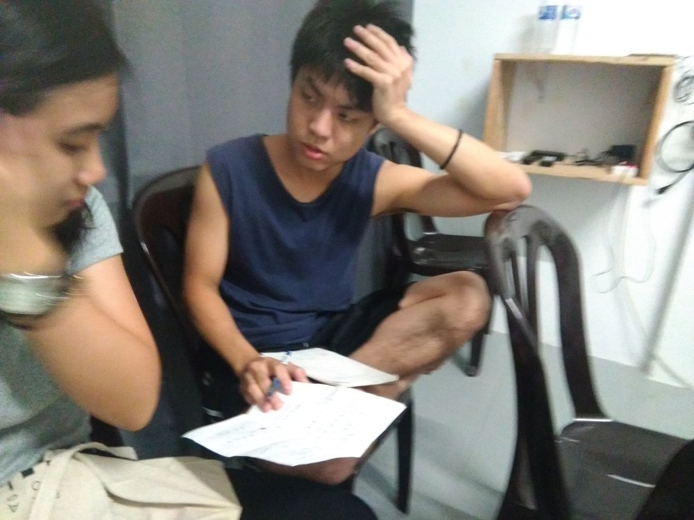 Jacky and Rou Ning's first meeting, discussion on script.