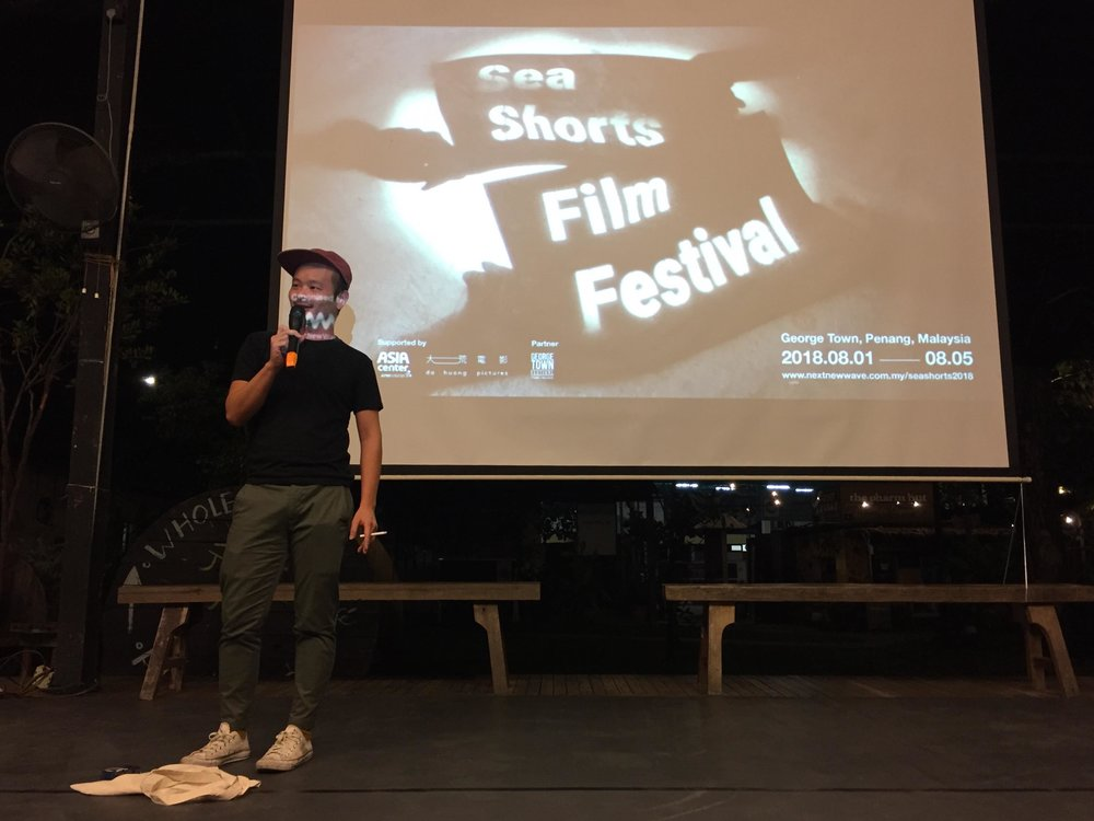 Liew Seng Tat is talking about his student film  Don't Play Play .