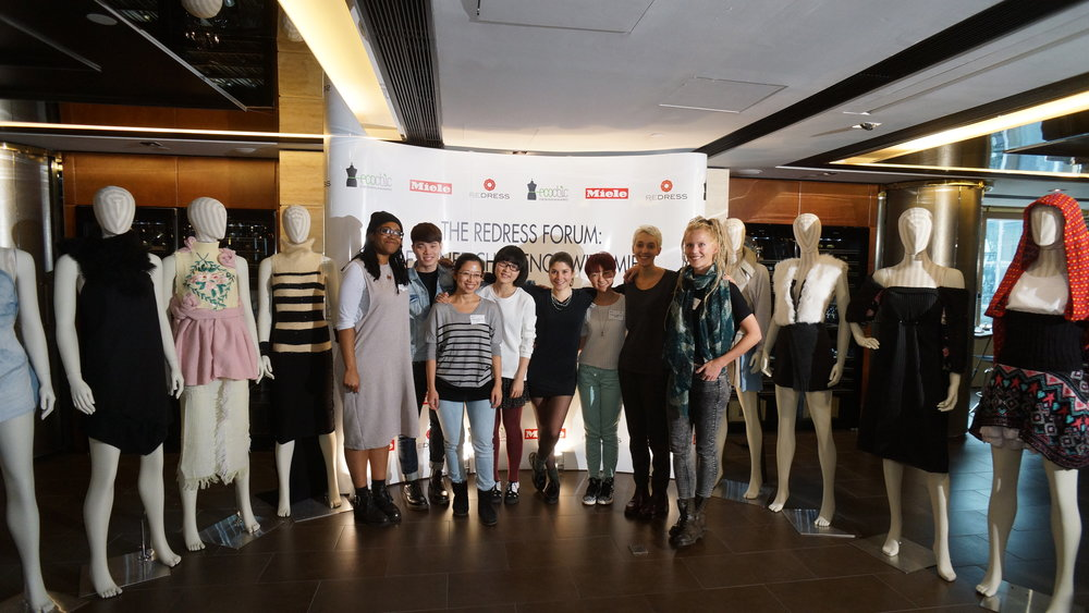 The Redress Forum Designer Challenge with Miele. Our The EcoChic Design Award 2013 finalists and their creations from the challange.JPG