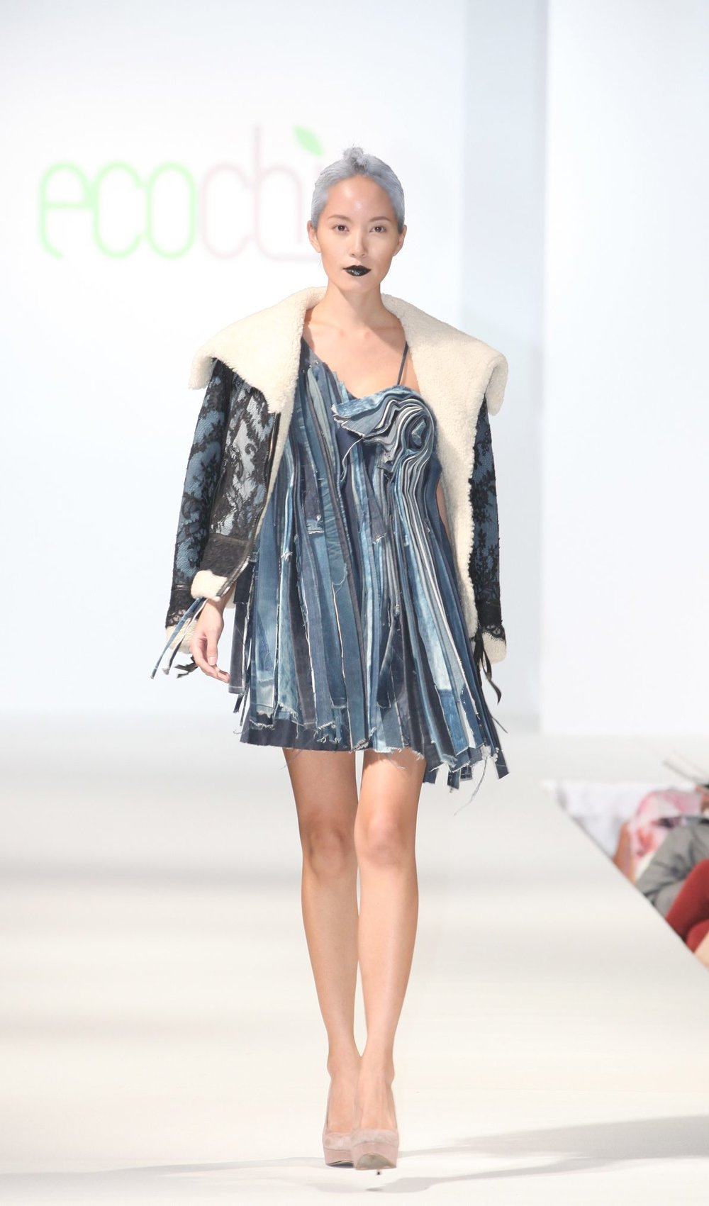 __VIGOSS reconstructed denim dress and lace denim jacket.jpg