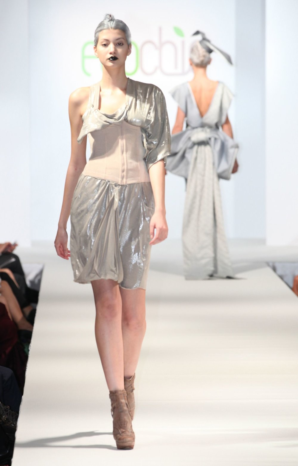 _Eco Ready to Wear Ciel silver top and skirt made from recycled pre-consumer material.jpg