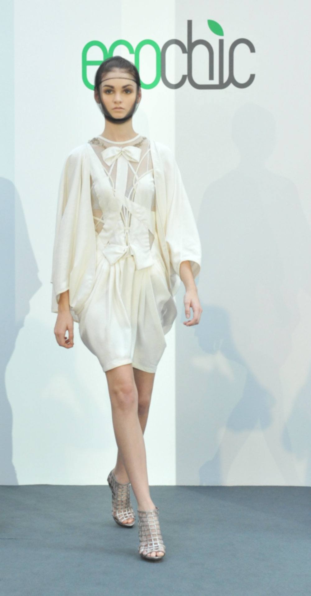 26. Bora Aksu - Cream silk dress and silk cape (fairly produced silk) .jpg