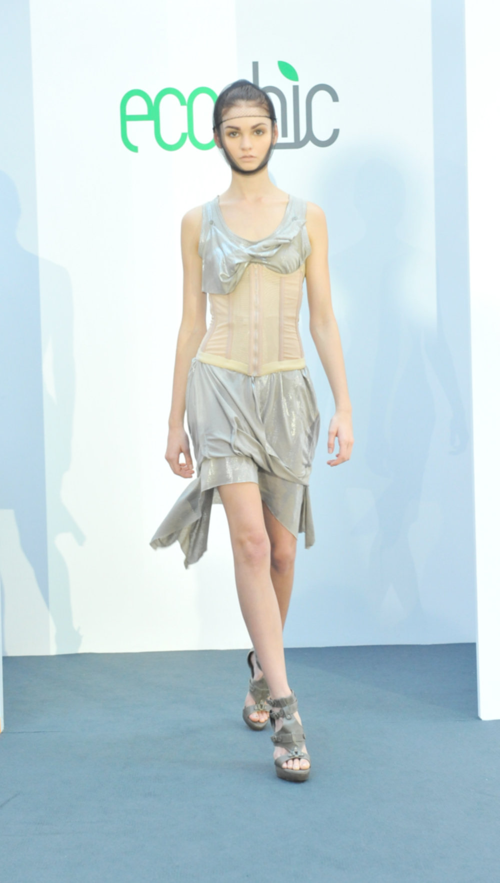 11. Ciel silver top and skirt (recycled post manufactured waste materials).jpg
