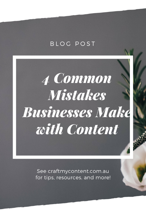4 Common Mistakes Publishing Content