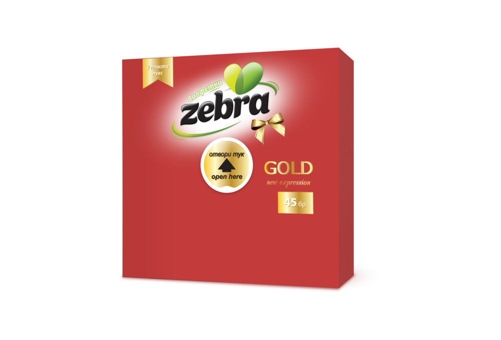 Napkins Zebra Gold 45pcs Red 3800090303169.png