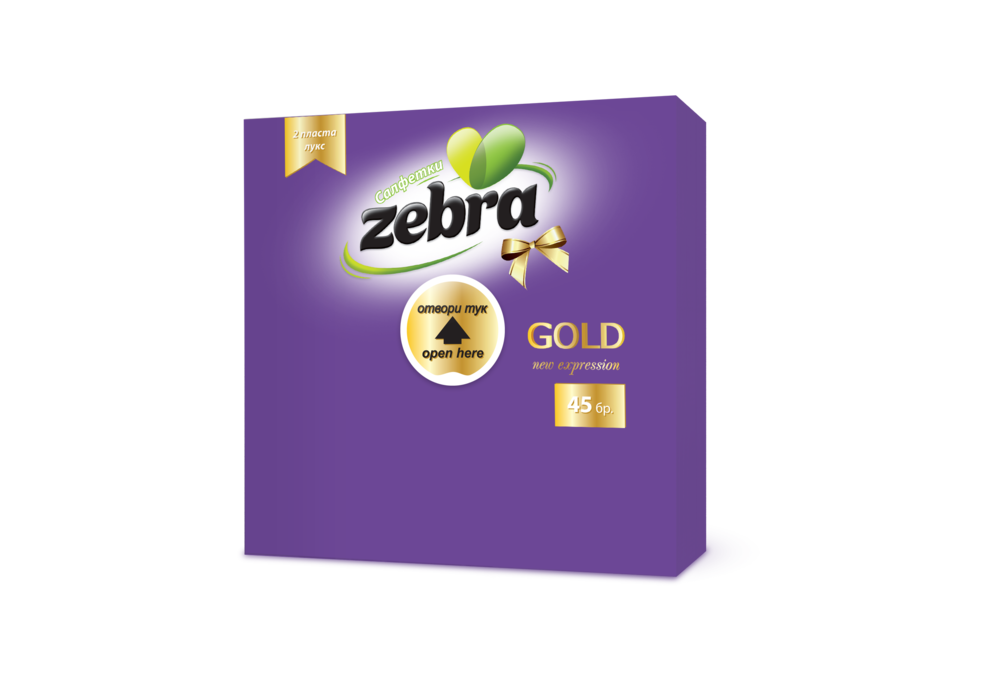 Napkins Zebra Gold 45pcs Purple 3800090304159.png