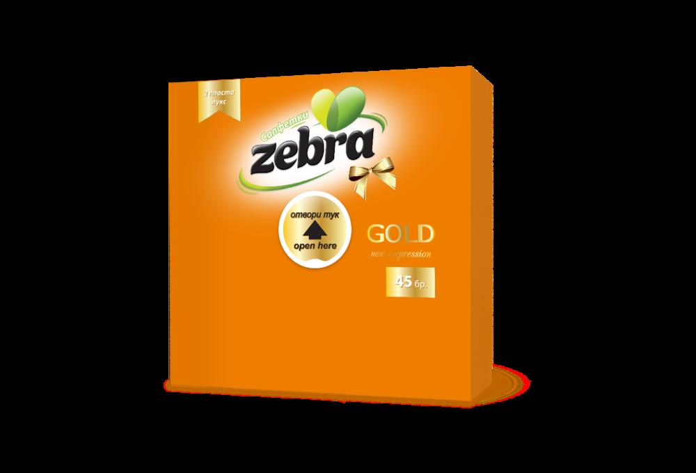 Napkins Zebra Gold 45pcs Orange 3800090303206.png