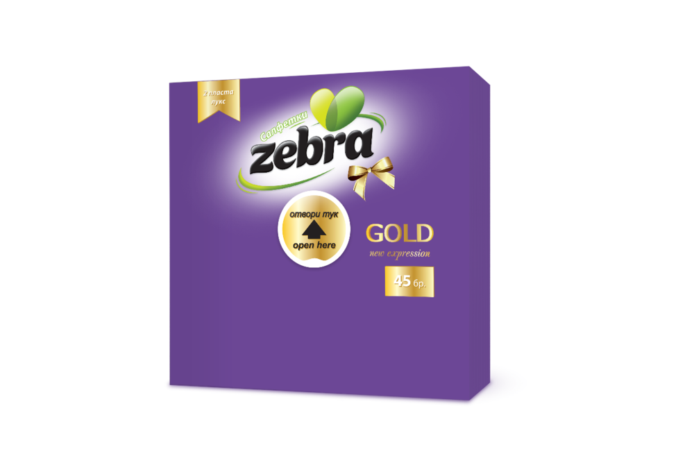 Napkins Zebra Gold 45pcs Purple 3800090304159.png