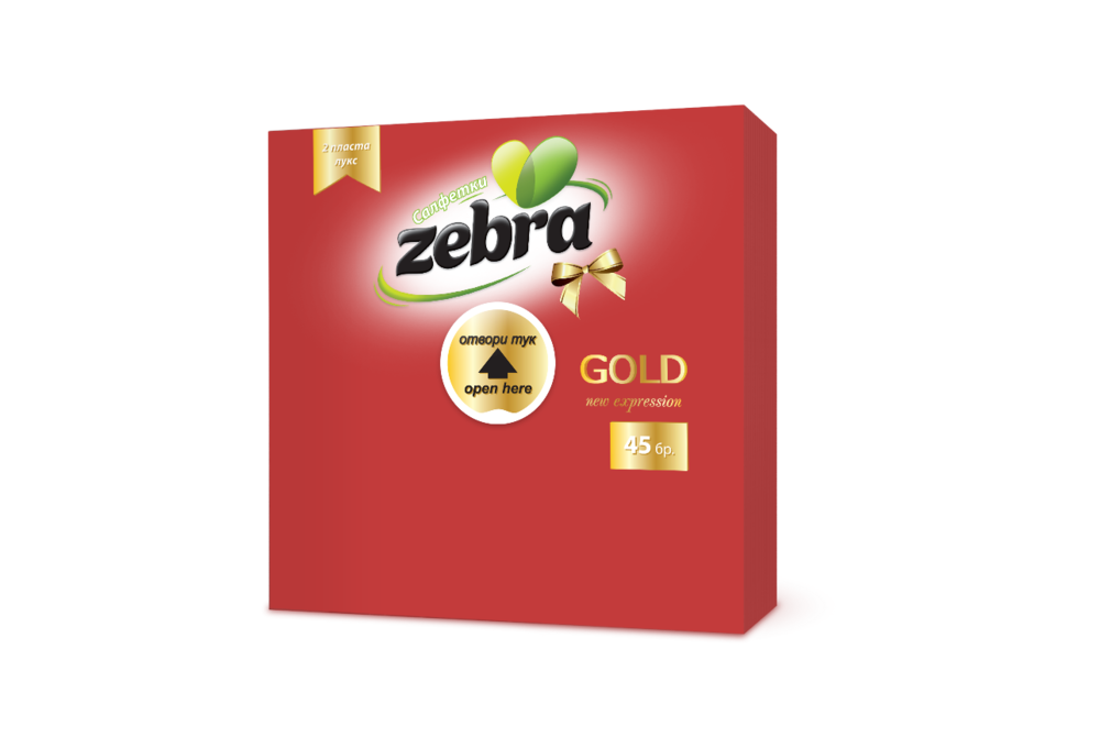 Napkins Zebra Gold 45pcs Red 3800090303169.png