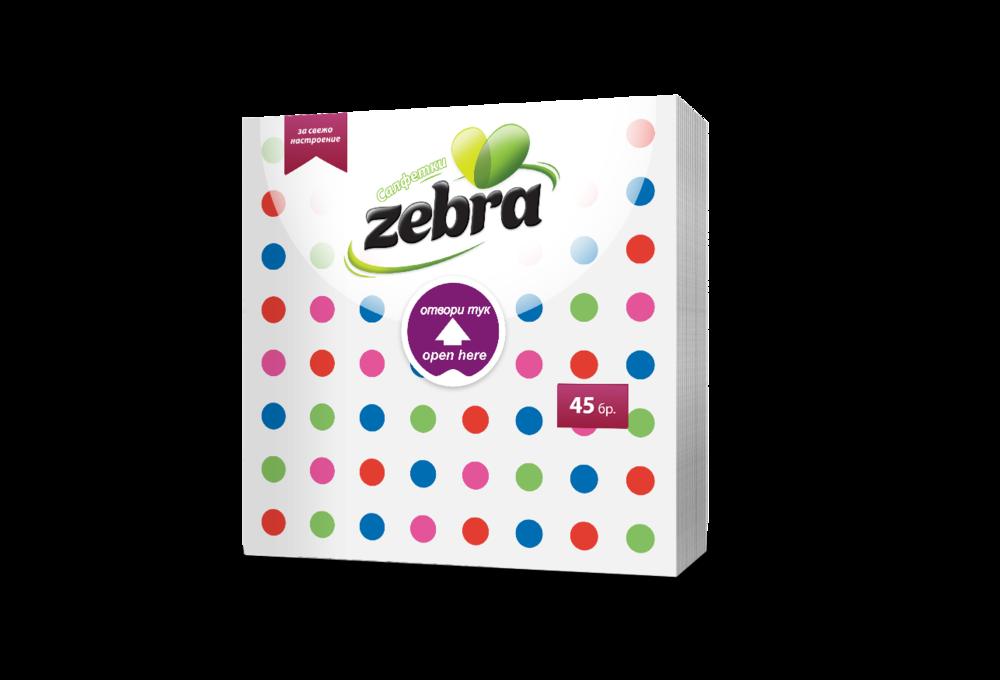 Napkins Zebra dots 45pcs 3800090303824.png