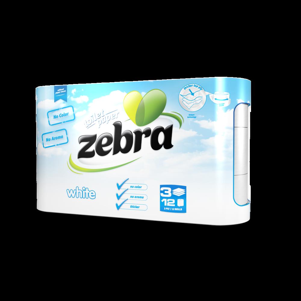 Toilet paper Zebra White 12 rolls 3800090303732.png