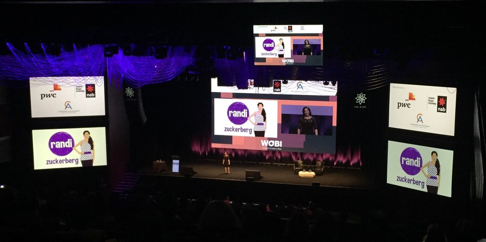 Randi Zuckerberg at the  World of Business Ideas Forum in Sydney  2017