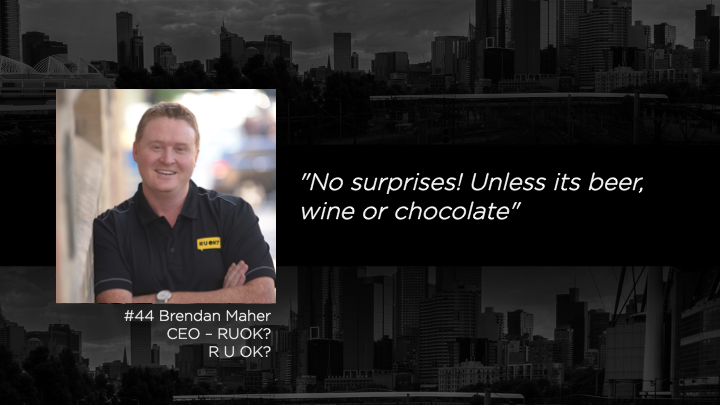 The Mentor List Podcast - Why it's important to talk about mental health - Brendan Maher - CEO - RUOK?