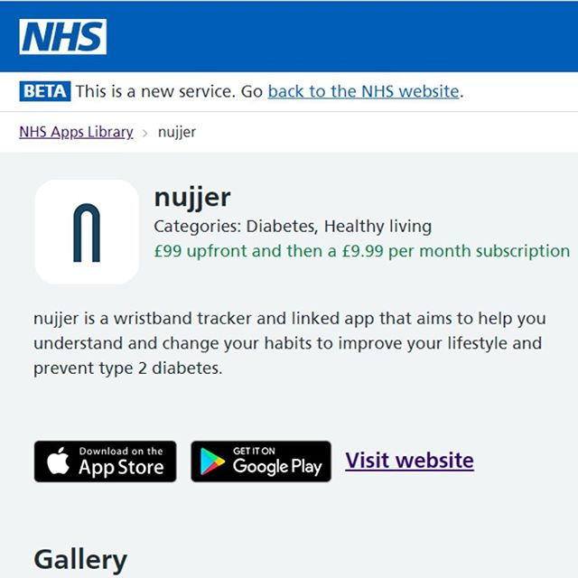 Did you know? Nujjer is featured in the NHS apps library! Link in bio.