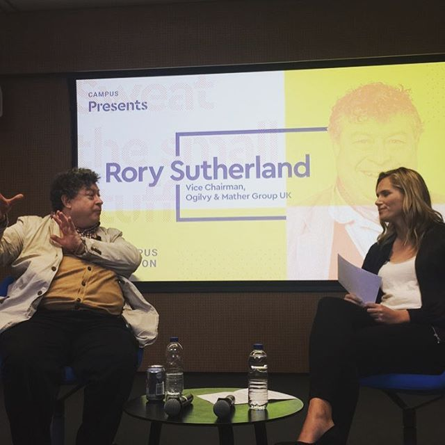 A conversation with Rory Sutherland from one of the leading global advertising and marking firm, some insights to be delivered 👀 * * * #creative #entrepreneur #branding #customer #behavior #marketing #advertising #talk #london #campuslondon